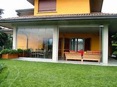 chiudere terrazza con vetro patio closed with folding glass doors water and airproof