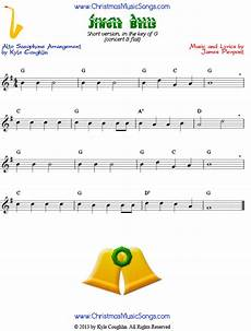 jingle bells easy version of free sheet music for alto