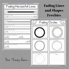 occupational therapy handwriting worksheets for adults 21876 fading lines and shapes freebies from http yourtherapysource fadinglinesshapesfreebie