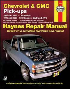 all car manuals free 1997 gmc 2500 electronic throttle control 1988 1998 all makes all models parts l775 1988 00 truck chevrolet gmc truck haynes manual