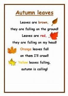 poetry analysis worksheet to autumn 25532 autumn leaves poem esl worksheet by pilar84