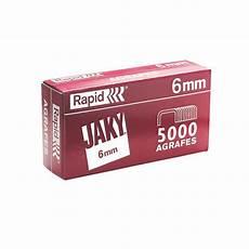 Rapid Boite De 5000 Agrafes Jaky 6mm Cuivre Agrafeuse
