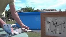 madatex demonstration du kit de reparation piscine