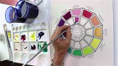 how to paint a color wheel by jody bergsma youtube