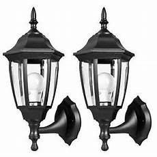 outdoor porch lights pair led light fixtures durable plastic wall ls new 710280605603 ebay