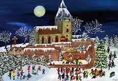 st michaelskirche mit kaiserkreuz ist weihnachtsmotiv