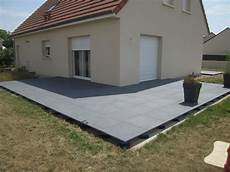 Finition Terrasse Dalle Beton Sur Plot Veranda Styledevie Fr