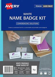 staples convention name card holders template name badge kit avery l7418k 20 holders white 3
