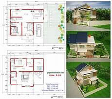 Rumah 2 Lantai Lebar 16 X 13 M Minimalis Jasa Desain Rumah