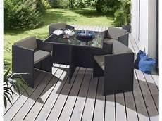 table de jardin moderne salon de jardin 1 table et 4 fauteuils andreas coloris