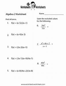 free algebra worksheets 15442 algebra 2 worksheets free printable worksheets for teachers and