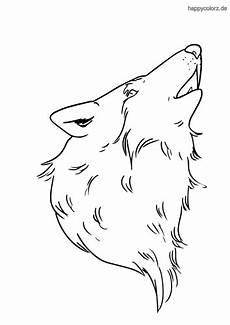 ausmalbilder wolfskopf kinder ausmalbilder