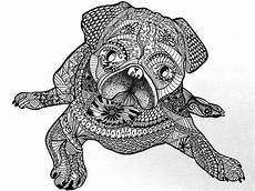 Ausmalbilder Tiere Muster Ausmalbilder F 252 R Erwachsene Hunde Zum Ausdrucken