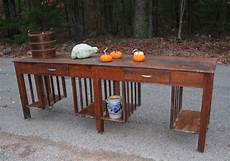 rare mission oak stickley farm house dining table kitchen