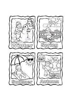 four seasons coloring page printable with images