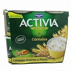 yaourt au bifidus activia yaourt c 233 r 233 ales aux graines de pavot 4x120g