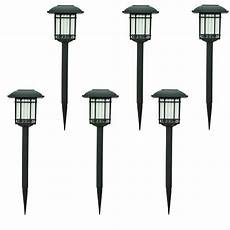 home depot hton bay solar black outdoor integrated led 3000k 6 lumens landscape pathway light
