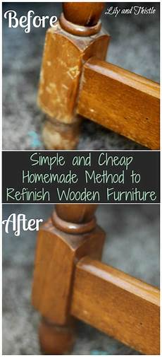 simple and cheap method to refinish wooden