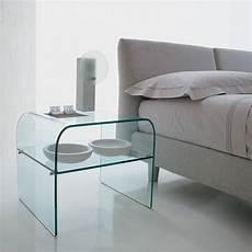 nachttisch glas anemone 6829 beistelltisch nachttisch tonin casa aus glas
