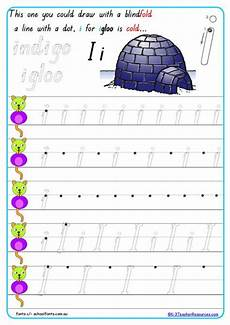letter formation worksheets queensland 23274 printable handwriting practice sheets k 3 resources
