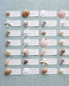 escort card ideas for a beach wedding martha stewart