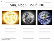 the earth moon and sun worksheets 14414 sun moon earth characterization worksheet by miss pakosz tpt