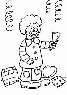 Fasching Ausmalbilder Clown Kostenlose Malvorlage Karneval Fasching Fastnacht Junge