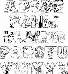 colouring pages for adults of animals letters 17309 zoo animals coloring printable alphabet formas de letras moldes de letras