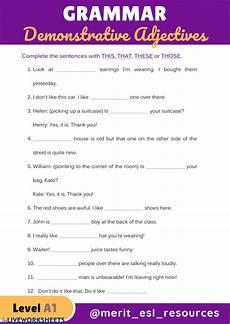 demonstrative adjectives interactive worksheet
