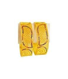 22kt gold jewelry kadas 2 pcs baka4115 22kt gold wide bangles with filigree work and