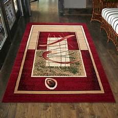 teppich modern designer wohnzimmer in rot l 228 ufer s xxl