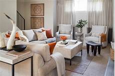 wohnzimmer grau orange blue and orange living room accents contemporary