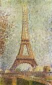 Georges Seurat Eiffel Tower  Car Interior Design