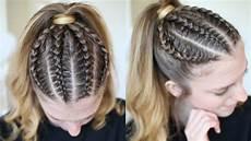 pinterest inspired braided ponytail ponytail hairstyles