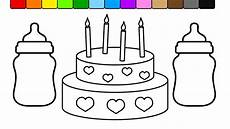 Malvorlagen Cake Learn Colors For And Color This Baby Bottle