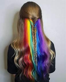 bright hair colors on pinterest bright hair rainbow hair and rainbow stream in blonde hair hair colors ideas