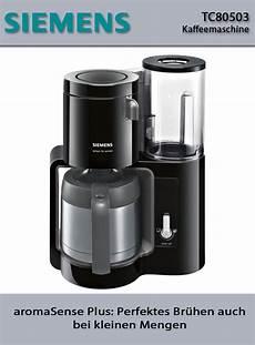 kaffeemaschine mit abnehmbaren wassertank siemens siemens tc80503 kaffeemaschine sensor technik abnehmbarer