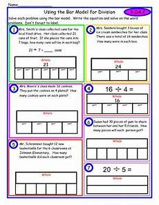 bar model word problems worksheets 4th grade 11460 division bar model school bar model division strategies math in focus