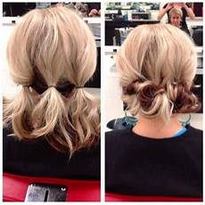 quick easy updo for medium length hair all dolled up in