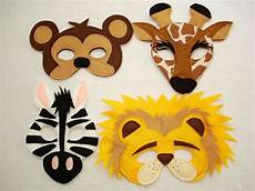 Tiere Selber Basteln - kinder safaritiere f 252 hlte mini combo 4 masken