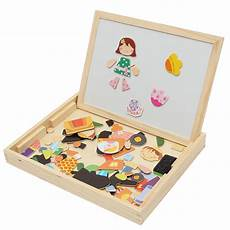 kids educational learning wooden magnetic drawing board jigsaw puzzle toys alexnld com