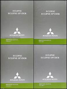 car repair manuals online free 2004 mitsubishi eclipse user handbook 2004 mitsubishi eclipse and eclipse spyder repair shop manual original set