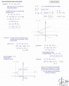 math plane conics ii hyperbolas and parabolas