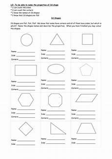 2d shapes names worksheets 1210 2d shape properties sheet teaching resources