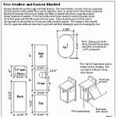 bluebird house plan blueprints for bluebird houses