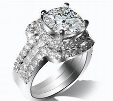 3 carat pure white gold three rings combine convincing lovely diamond wedding ring for top