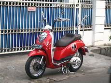 Jok Scoopy Modifikasi by Modifikasi Jok Motor Jok Scoopy Mr Buluk Terpasang Di Motor