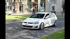 golf 7 gti driving tuned low vw golf 7 gti loud acceleration sound