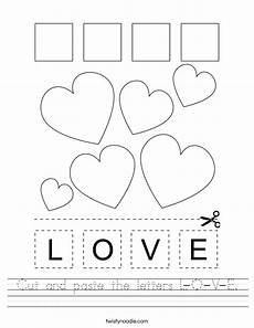 letter l worksheets cut and paste 23203 cut and paste the letters l o v e worksheet twisty noodle