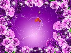 Posters Purple Flowers Background Material Mothers Day